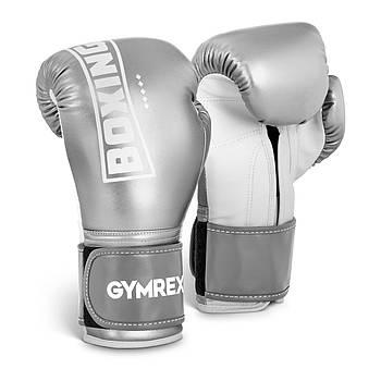 Боксерские перчатки - 12 унций - серебристый металлик Gymrex Марка Европы