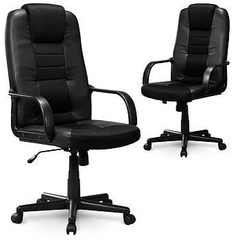 Кожаное кресло с микро сеткой Eago 518B чёрное Марка Европы