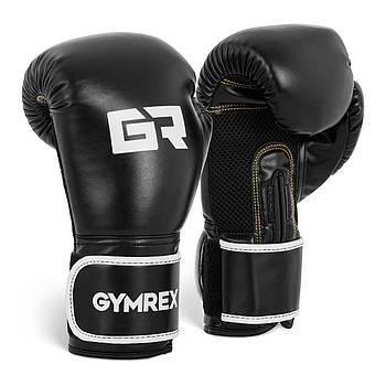 Боксерские перчатки - 12 унций - черные Gymrex Марка Европы