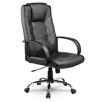 Кожаное офисное кресло Eago EG-221 чёрное Марка Европы