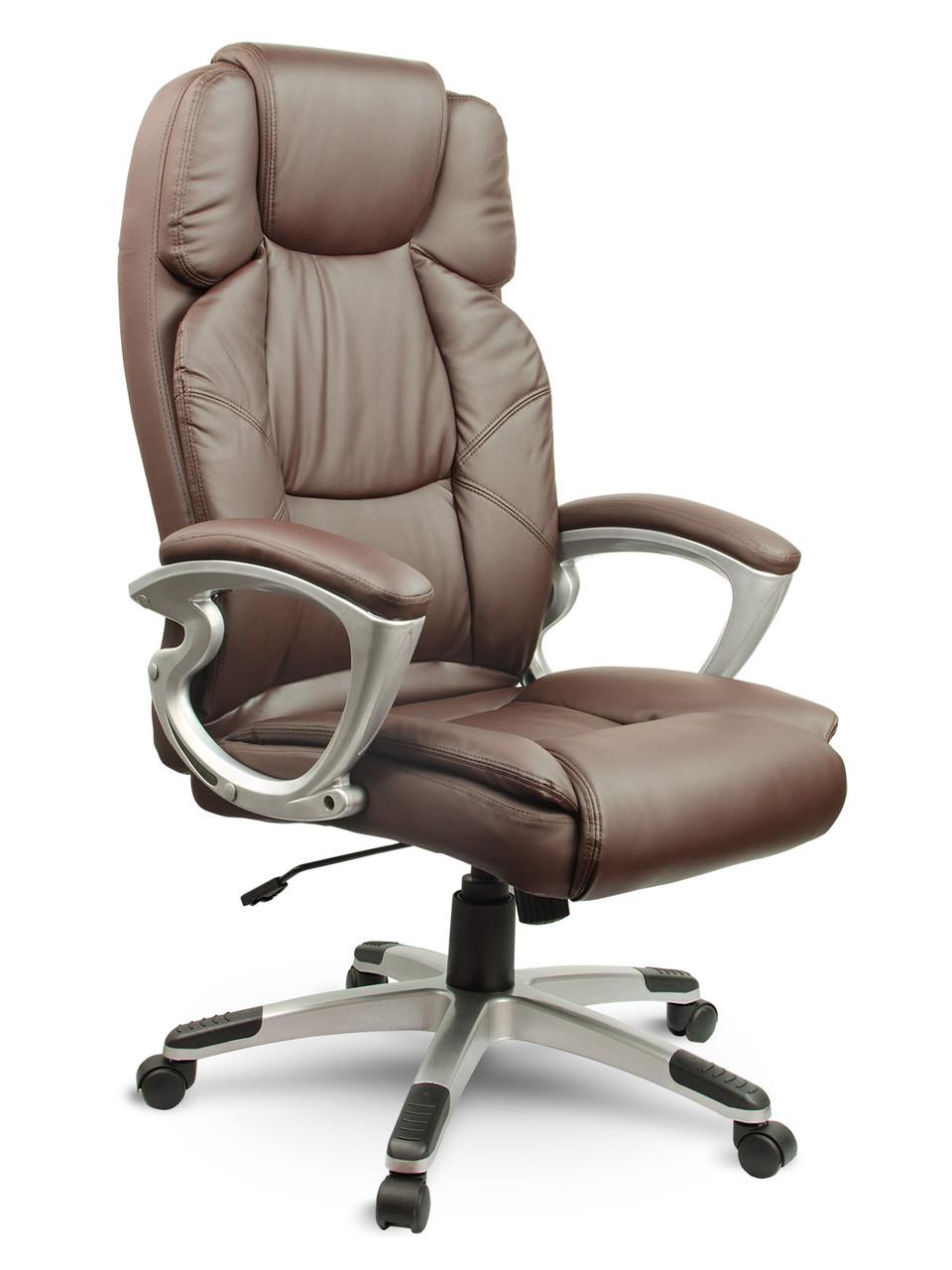 Шкіряне офісне крісло Eago EG-227 коричневий