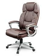 Кожаное офисное кресло Eago EG-227 коричневый, фото 2
