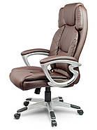 Шкіряне офісне крісло Eago EG-227 коричневий, фото 3