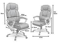 Шкіряне офісне крісло Eago EG-227 коричневий, фото 4