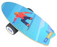 Балансборд Ex-board Surf Snowboard черный валик 16 см литой балансировочная доска, платформа, тренажер