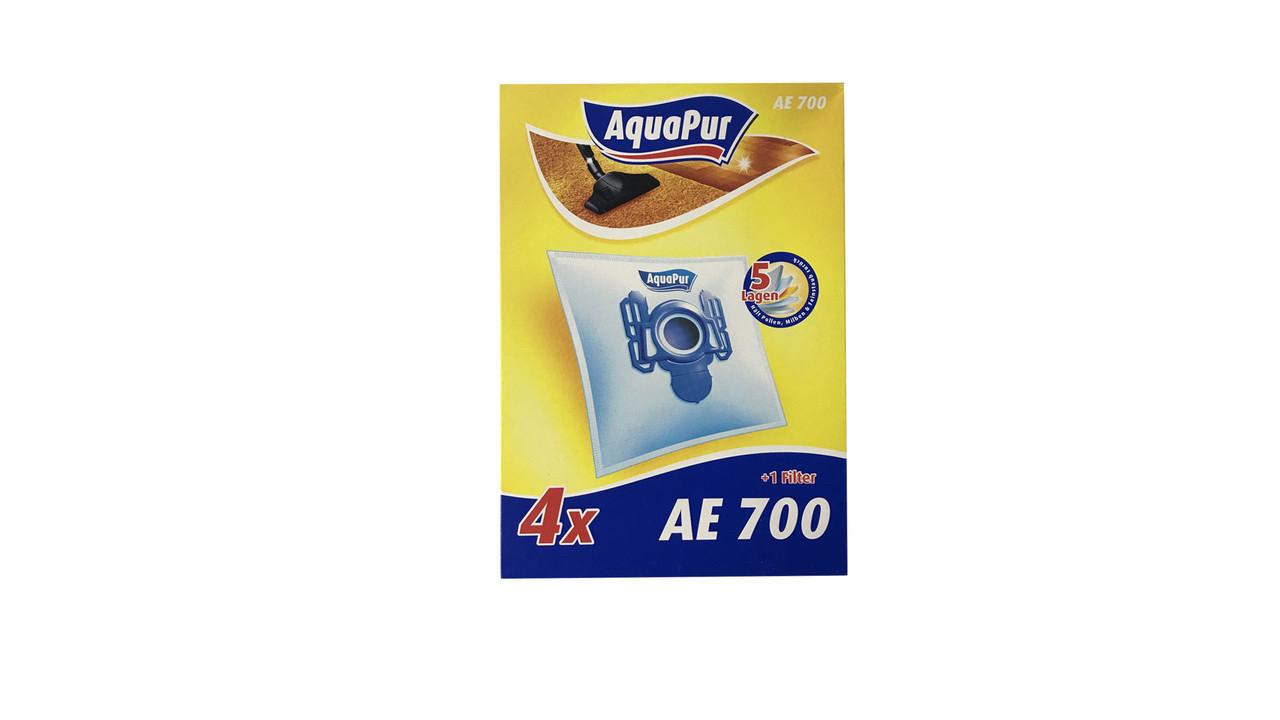 Набор мешков для пылесоса AquaPur АЕ 700 4 шт. + 1 фильтр