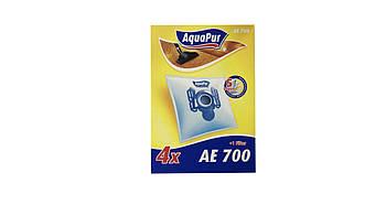 Многоразовые мешки для пылесосов AEG, Electrolux, Privileg, Volta, Progress AquaPur 4 шт. + фильтр