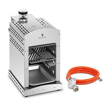 Комплект Газовый гриль для стейков - 800 ° C - 3500 Вт + Газовый редуктор - 37 мбар - Ø8 мм Royal Catering