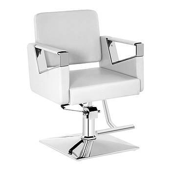 Комплект парикмахерского кресла Physa Bristol white + подставка для ног из нержавеющей стали - на винтах Physa