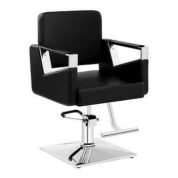Комплект парикмахерского кресла Physa Bristol черный + подставка для ног из нержавеющей стали - на винтах