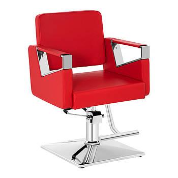 Комплект: парикмахерское кресло Physa Bristol красное + подставка для ног из нержавеющей стали - на винтах
