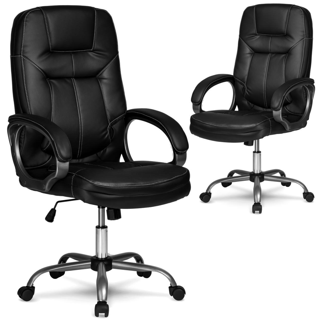 Кресло для руководителей кожаное Eago 355 черный