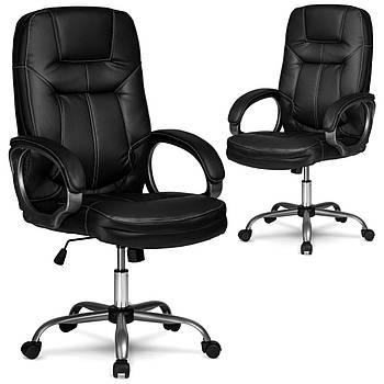 Кресло для руководителей кожаное Eago 355 черный Марка Европы