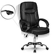 Кресло для руководителей кожаное Eago 355 черный, фото 3