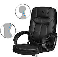Кресло для руководителей кожаное Eago 355 черный, фото 4
