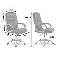 Кресло для руководителей кожаное Eago 355 черный, фото 5