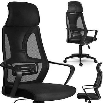 Кресло офисное микро-сетка прага - черный Марка Европы