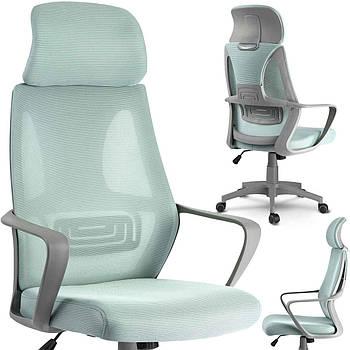 Кресло офисное с микро сеткой прага - голубой Марка Европы