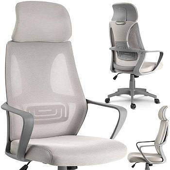 Кресло офисное с микро сеткой прага - светло-серый Марка Европы