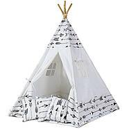 Палатка типи детская + коврик + подушки - белый, фото 2