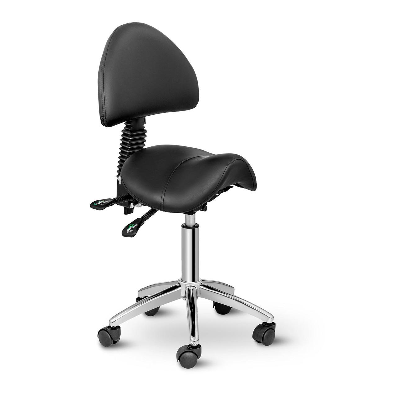 Крісло-сідло Берлін зі спинкою - чорний Physa