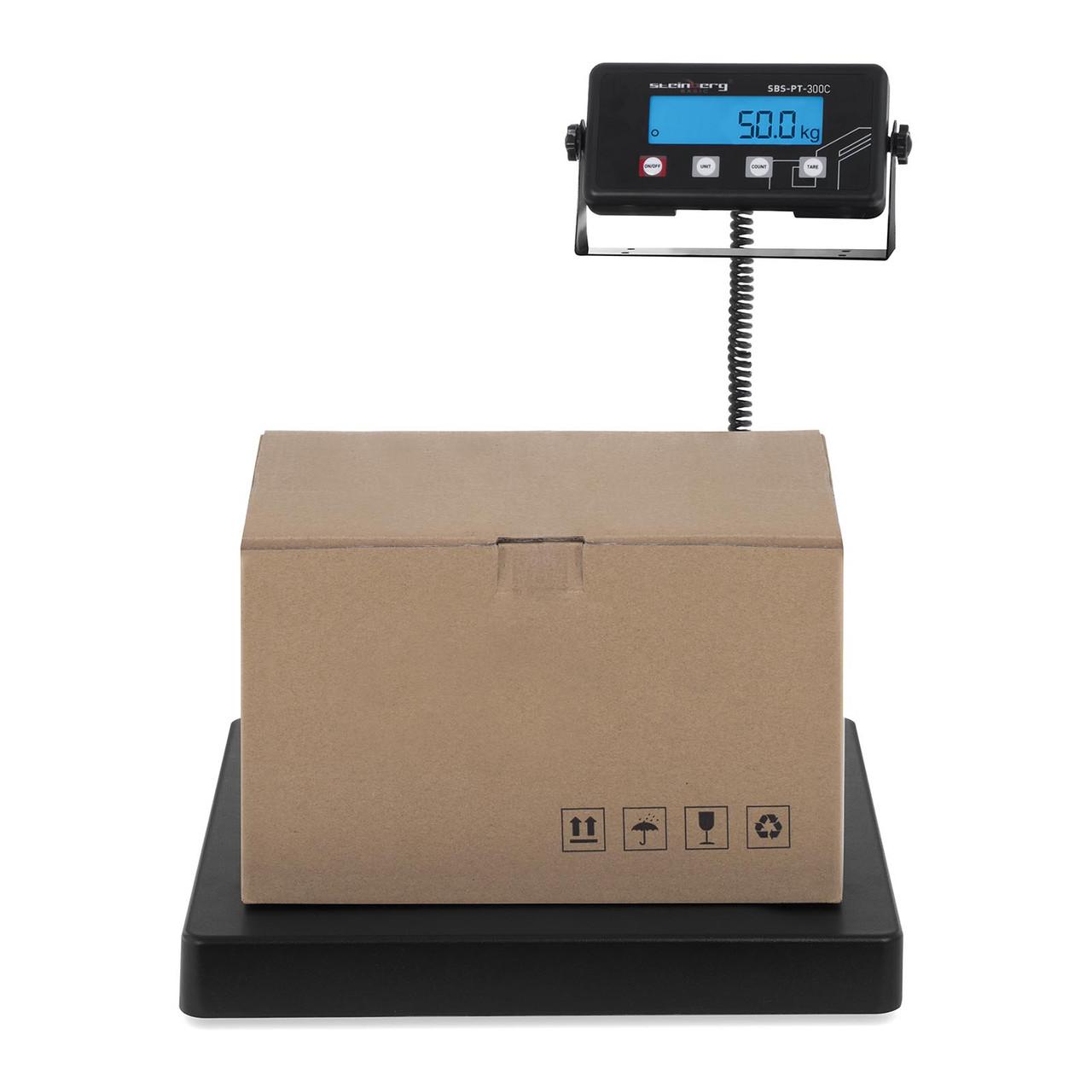 Весы складские настольные - 300 кг / 50 г - ЖК-терминал Steinberg Systems