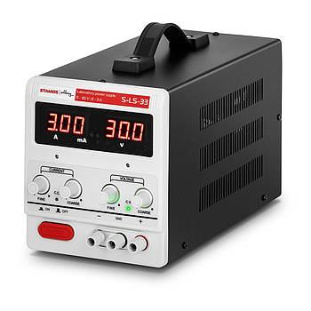 Лабораторний джерело живлення - 0-30 В - 0-3 А постійного струму - LED Stamos Soldering Марка Європи