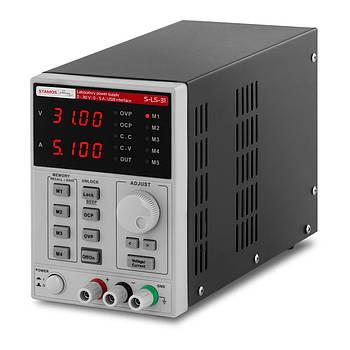 Лабораторний джерело живлення - 0-30 В - 0-5 А постійного струму - USB-кабель - функція пам'яті Stamos Марка Європи