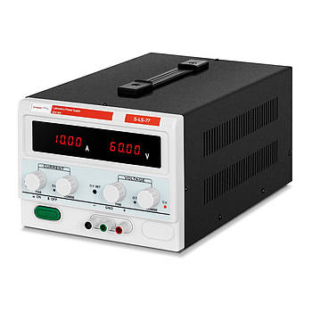 Лабораторний джерело живлення - 0-60 В - 0-10 А постійного струму Stamos Soldering Марка Європи