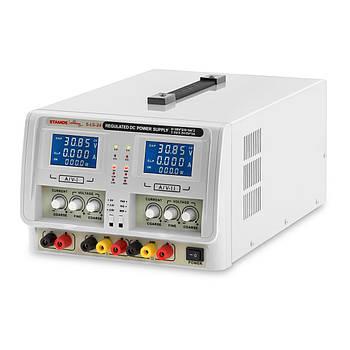 Лабораторний джерело живлення - 2 x 0-30V - 0-5A DC - 2 x LED Stamos Soldering Марка Європи