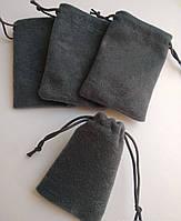 Мішечки ювелірні, бархат сірий матовий, 7х9 см, 1шт. Виробництво Україна, фото 1