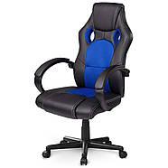 Обертове ігрове крісло чорно-синє Sofotel Master, фото 2
