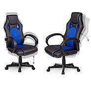 Обертове ігрове крісло чорно-синє Sofotel Master, фото 6