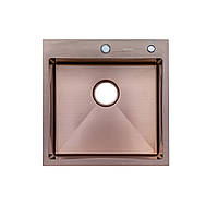 Кухонная мойка Germece HANDMADE PVD 5050 HD-D001 бронза