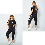 Жіночий спортивний прогулянковий костюм двійка футболка+штани двухнить на розмір: 42-44, 46-48, 50-52, фото 4