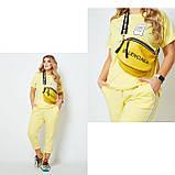Жіночий спортивний прогулянковий костюм двійка футболка+штани двухнить на розмір: 42-44, 46-48, 50-52, фото 8