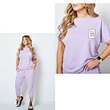 Жіночий спортивний прогулянковий костюм двійка футболка+штани двухнить на розмір: 42-44, 46-48, 50-52, фото 9
