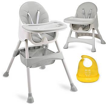 Высокий стул со столом Milo серый Марка Европы