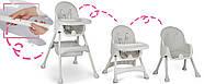 Высокий стул со столом Milo серый, фото 5