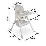 Высокий стул со столом Milo серый, фото 6