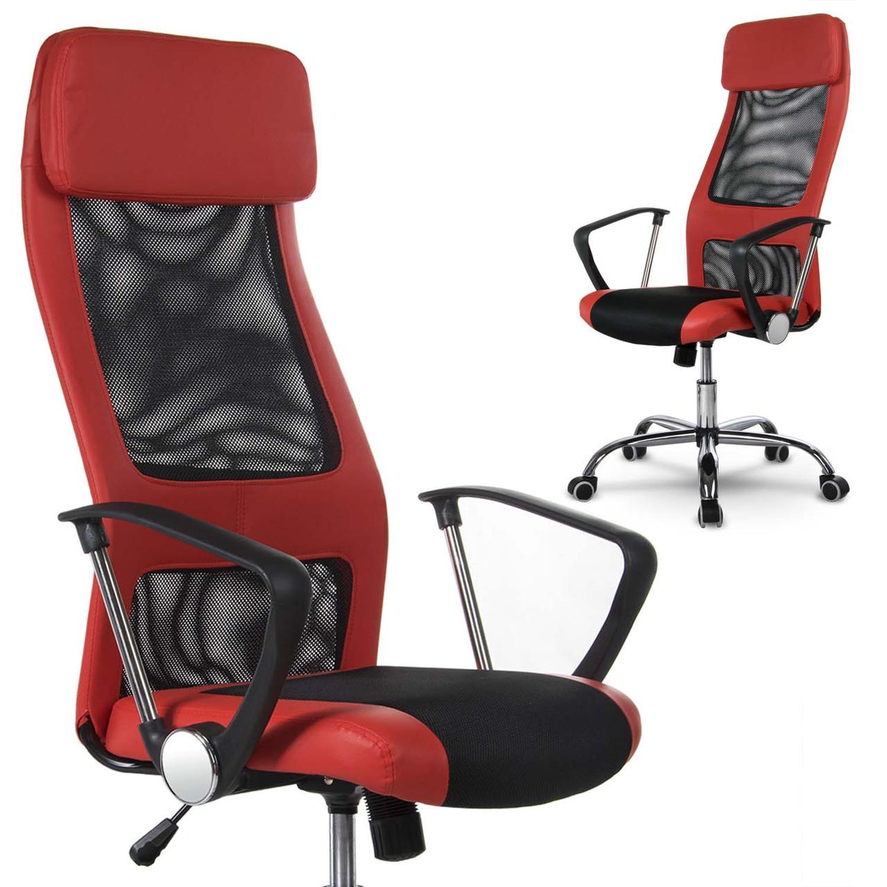 Висока сучасне офісне крісло Rio red