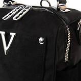Жіноча замшева сумка рюкзак, фото 4