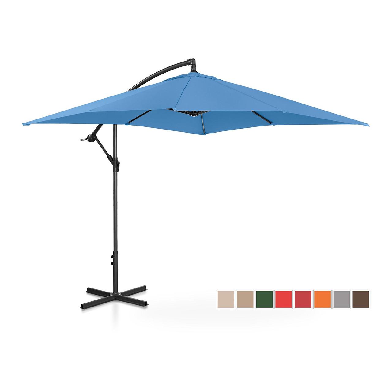Подвесной садовый зонт - 250 x 250 см - синий Uniprodo Марка Европы