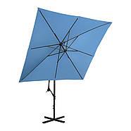 Подвесной садовый зонт - 250 x 250 см - синий Uniprodo Марка Европы, фото 3