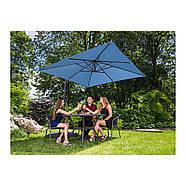 Подвесной садовый зонт - 250 x 250 см - синий Uniprodo Марка Европы, фото 10