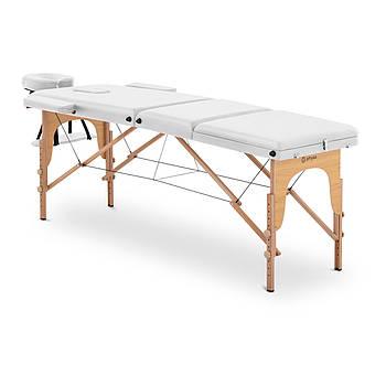 Масажний стіл Marseille White - Складна - Біла Physa