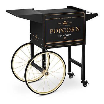 Тележка для попкорна - 51 x 37 см - черный и золотой Royal Catering Марка Европы