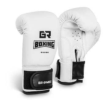Детские боксерские перчатки - белые - 4 унции Gymrex Марка Европы