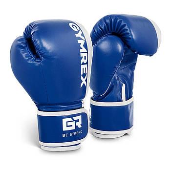 Детские боксерские перчатки - белые / синие - 6 унций Gymrex Марка Европы