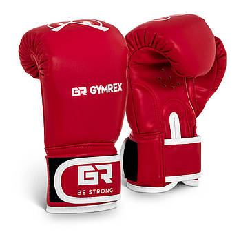 Детские боксерские перчатки - красные - 4 унции Gymrex Марка Европы
